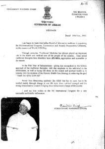 CHAUDHARY RANDHIR SINGH,GOVERNOR OF SIKKIM