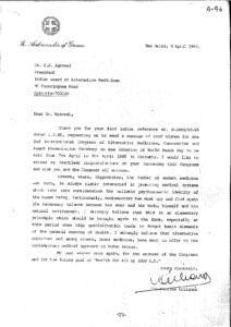 CONSTANTINE ALLIANCS, AMBASSADOR OF GREECE, NEW DELHI