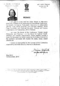 DR.NAZMA HEPTULLAH,MINISTER OF MINORITY AFFAIRS