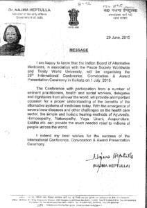 DR. NAZMA HEPTULLAH,MINISTER OF MINORITY AFFAIRS,GOVT. OF INDIA