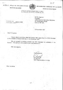 DR OLAVI ELO,WHO REPRESENTATIVE TO INDIA