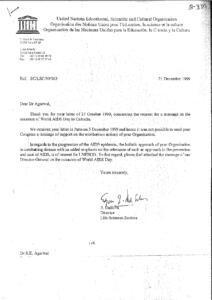 E.DASILVA,DIRECTOR,LIFE SCIENCES SECTION,UNESCO