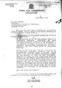 IAN C.B. SIKAZWE,HIGH COMMISSIONER, ZAMBIA
