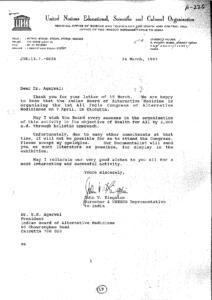 JOHN V. KINGSTONE, DIRECTOR  UNESCO REPRESENTATIVE TO INDIA