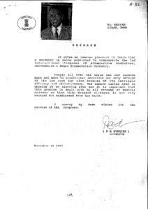 P R KYNDIAH, GOVERNOR OF MIZORAM,