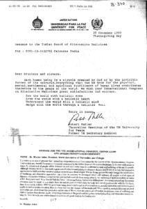 ROBERT MULLER,CHANCELLOR EMIRITUS OF THE UN UNIVERSITY FOR PEACE