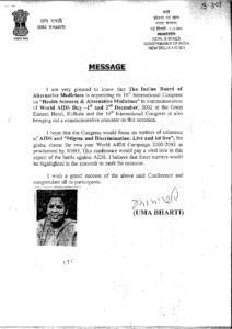 UMA BHARTI,MINISTER OF COAL MINES,GOVT. OF INDIA